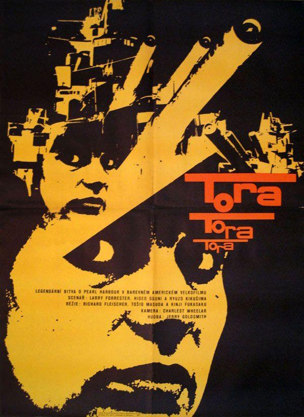 Czech poster for TORA! TORA! TORA! (Richard Flesicher, USA/Japan,1970) Designer: Rudolph Altrichter