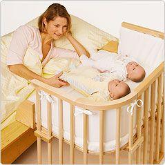Co-sleeping cot- finally some body designed something for us <3http://babylejdiz.blogspot.co.uk/2012/04/co-sleeping-moda-wygoda-czy-spokoj.html