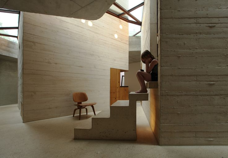 """Maison L _ """"A house as a small town"""" @  Yvelines, France by Christian Pottgiesser Architecturespossibles"""