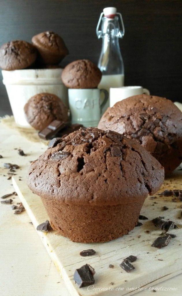 Muffins alla nutella con cioccolato fondente