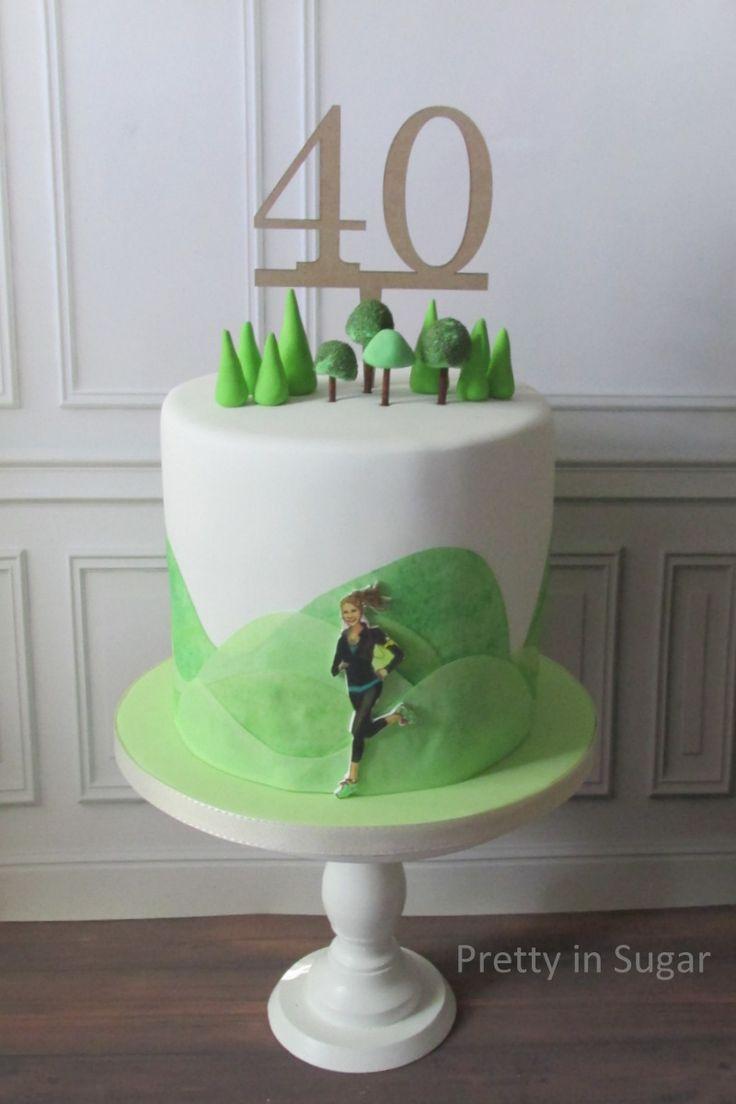 Trail running cake