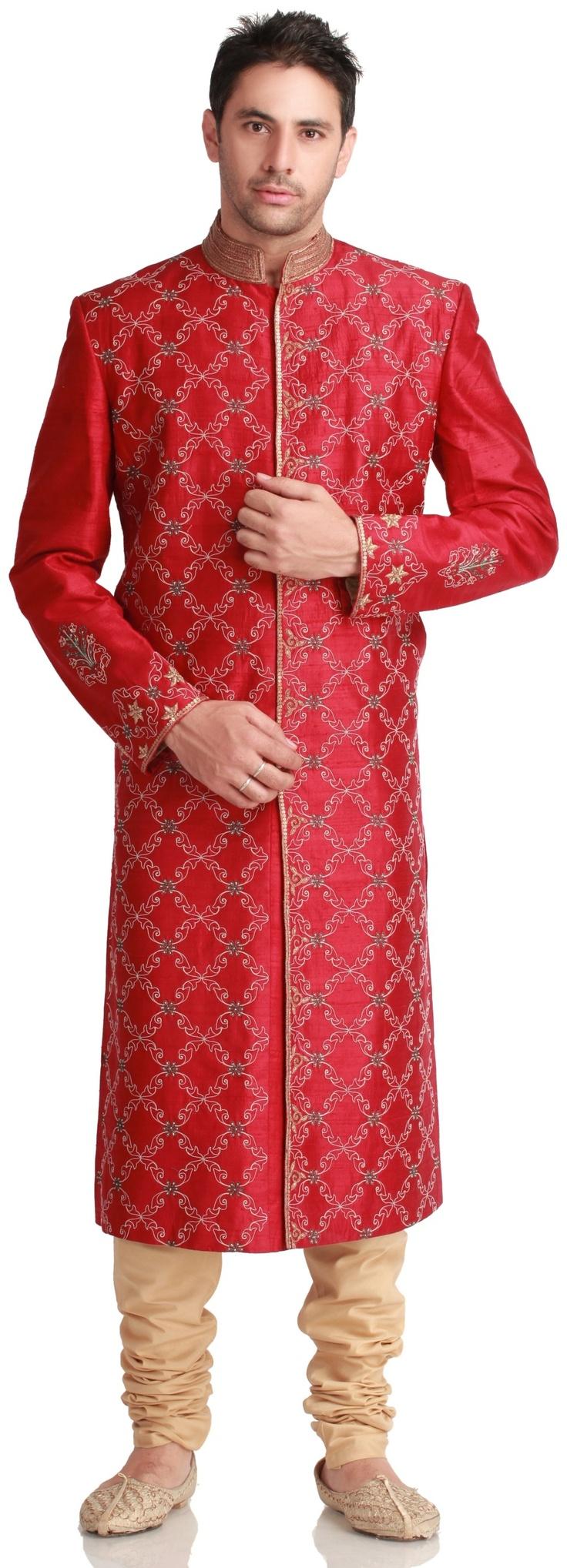 98 best indian groom wear images on pinterest wedding for Indian wedding dresses for man
