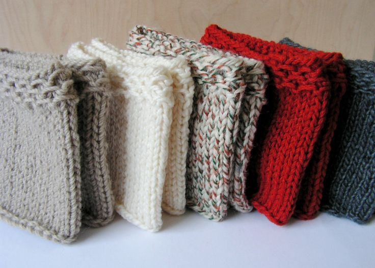 DIY Hand knitted Women Boot cuffs.