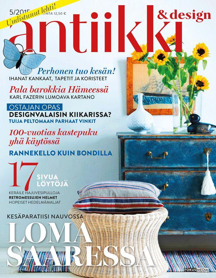 Antiikki & Design 5/2015. Magazine Cover. Styling Irene Wichmann. Photo Kristiina Hemminki, Fotonokka.