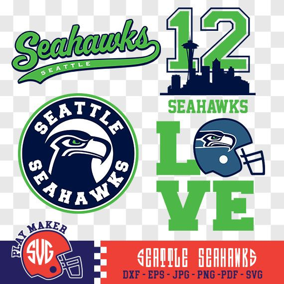 Seattle Seahawks SVG, Seattle Football Clipart, Seattle Seahawks Monogram, Seattle Silhouette, Screen Printing, Play_015