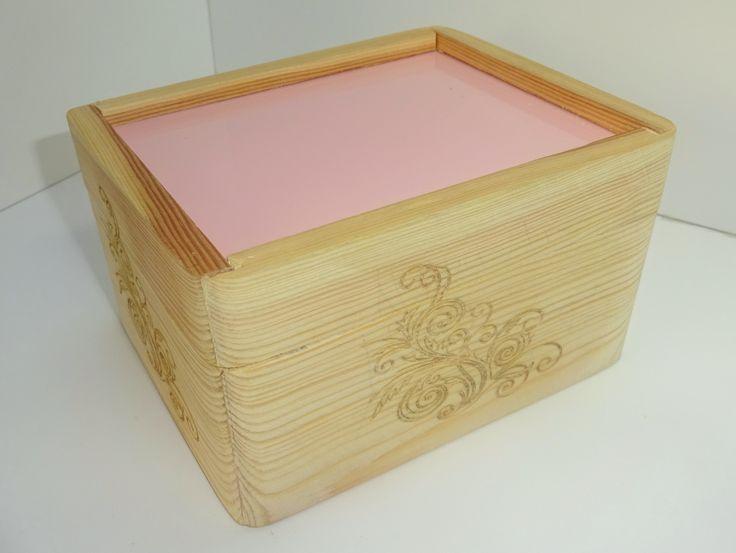 AB wooden box.