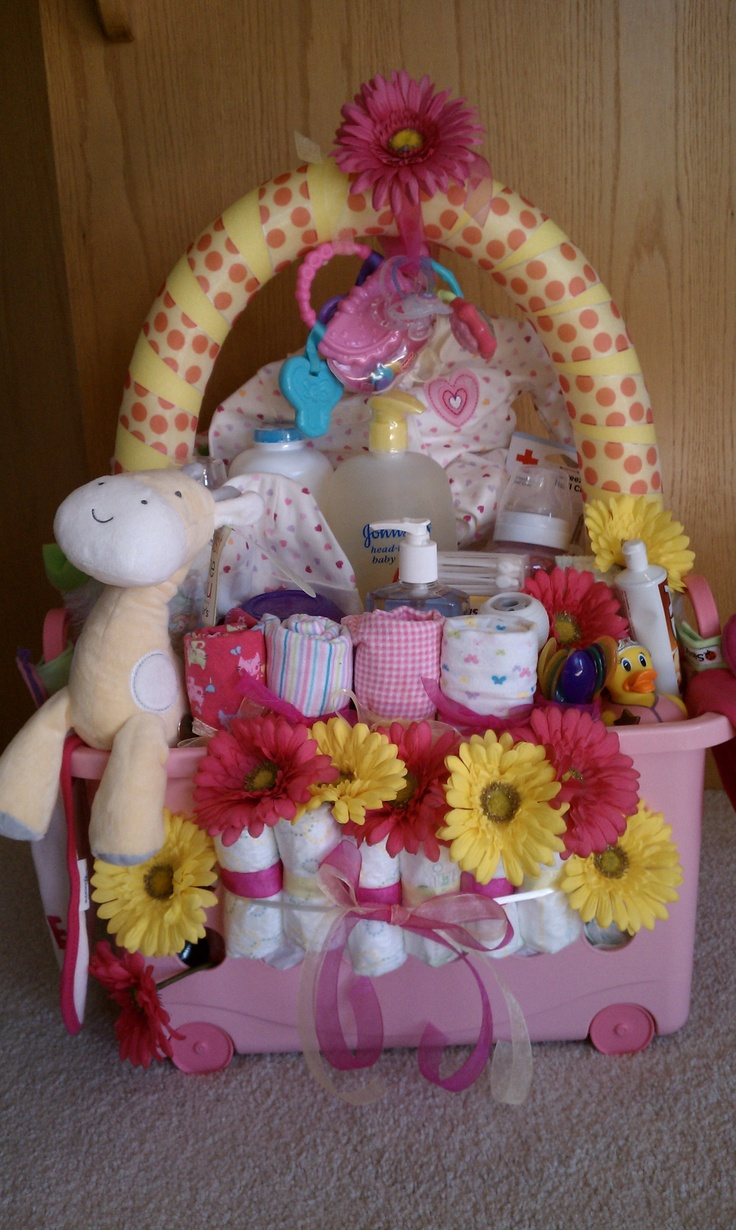 Baby Gift Basket Diapers : Diaper basket baby shower
