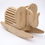 rocking elephant in wooden