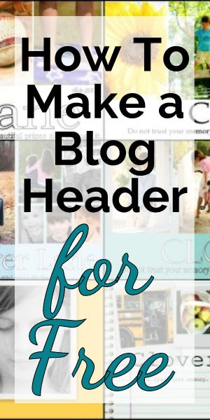How To Make a Blog Header for Free