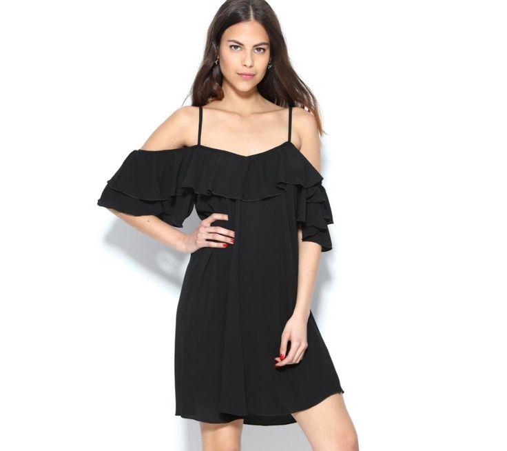 Rozšírené šaty s odhalenými ramenami a volánmi   modino.sk #ModinoSK #modino_sk #modino_style #style #fashion #dress