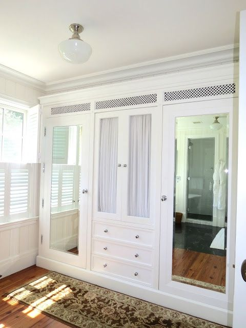 I would love to do an idea similar to this (for my bedroom) where one door leads to closet and one leads to bathroom!