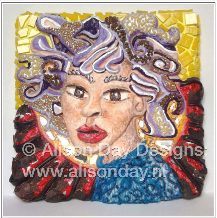 Scarlet — Colourful & Stylish - Nine Women #pâpiermaché #illustrate - by Alison Day  Newsletter - for more info and creativity: http://alisonday.us8.list-manage.com/subscribe?u=f0ee923eb109c974f6e7d72c2&id=d783011ad5