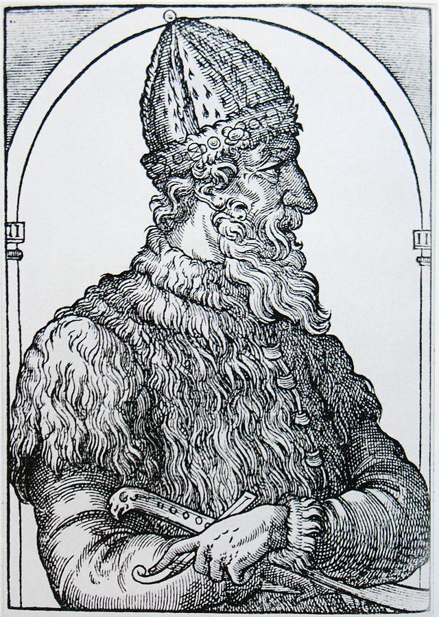 Иван III Васильевич. Гравюра из «Космографии» А. Теве, 1575 год.