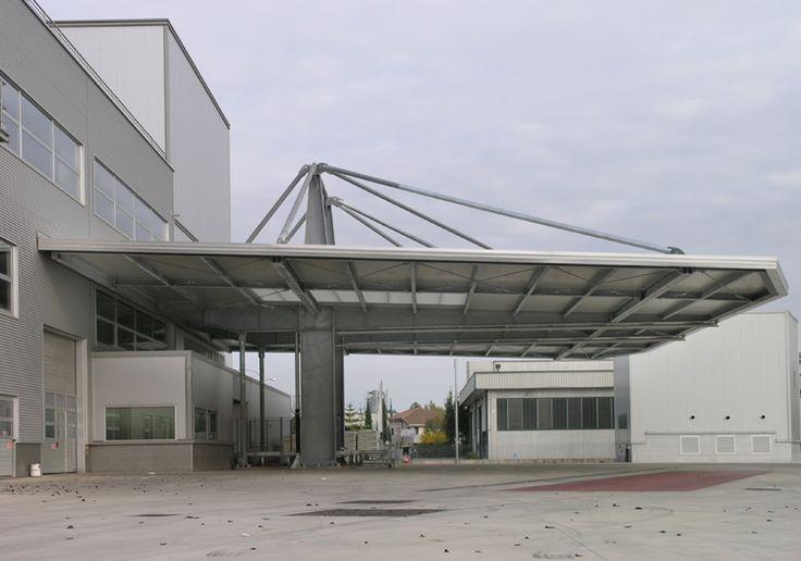 Coperture strallate, tettoie e pensiline - Costruzioni metalliche Muttin Vicenza Veneto