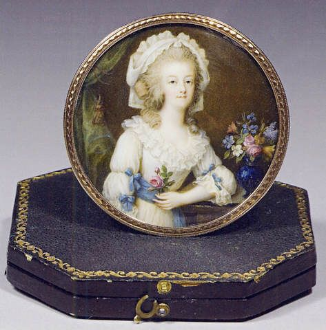 A miniature of Marie Antoinette, attributed to Francois Campana