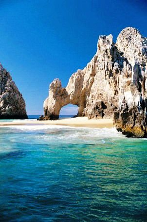 "Los Cabos - Mexico  (Went there for our 25th wedding anniversary, one of my favorite paces on earth)  That beach is called ""Lovers Beach"" the backside of that beach is called ""Divorce Beach"", so we never went on the backside)"