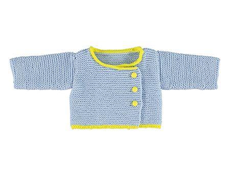 Blauwe babycardigan | Veritas BE