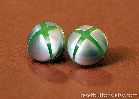 Xbox 360 Earrings by resetbuttons on Etsy, $20.00