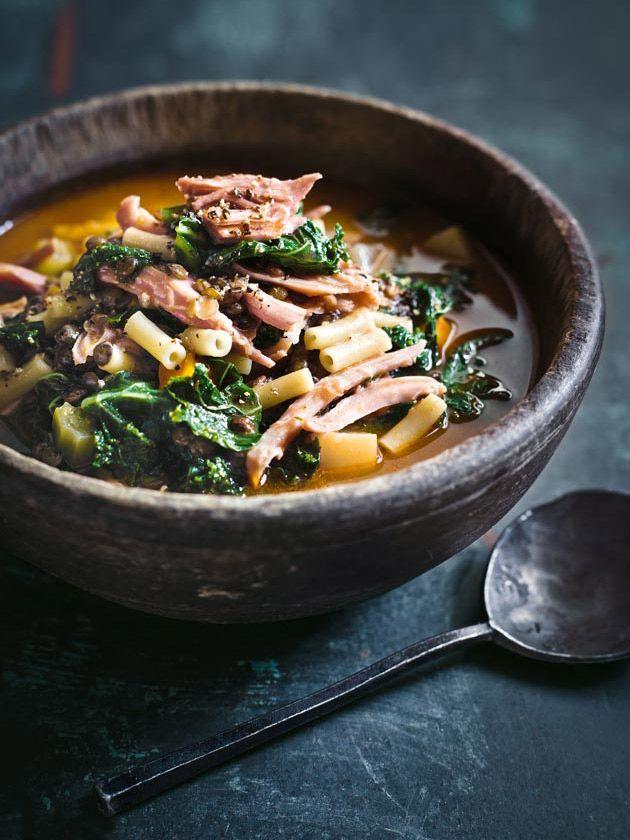 Ham Lentil And Kale Soup | Donna Hay