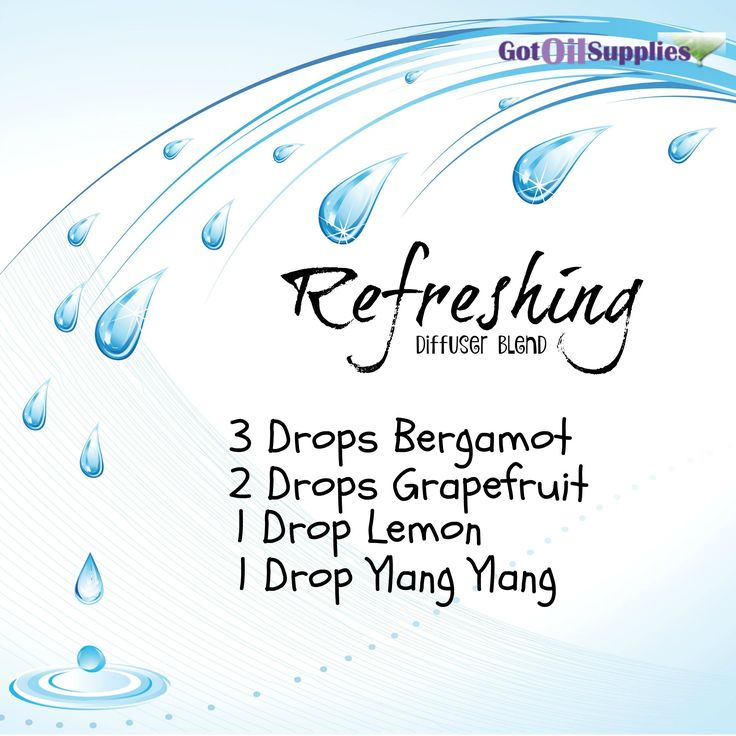 Refreshing Diffuser Blend With Bergamot, Grapefruit, Lemon and Ylang Ylang Essential Oil.
