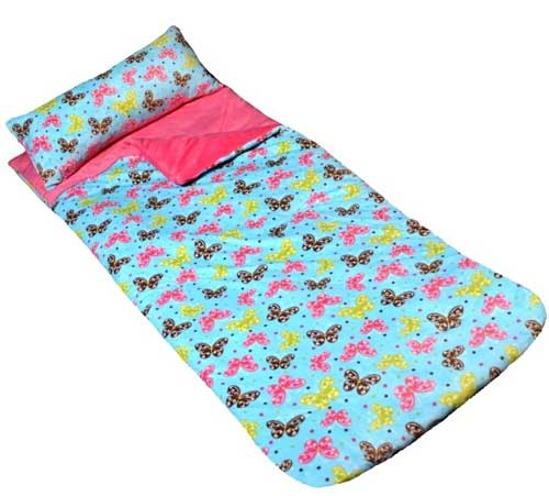 Girls Butterfly Fuschia Slumber Sleeping Bag By Cricketzzz Made In The USA Our