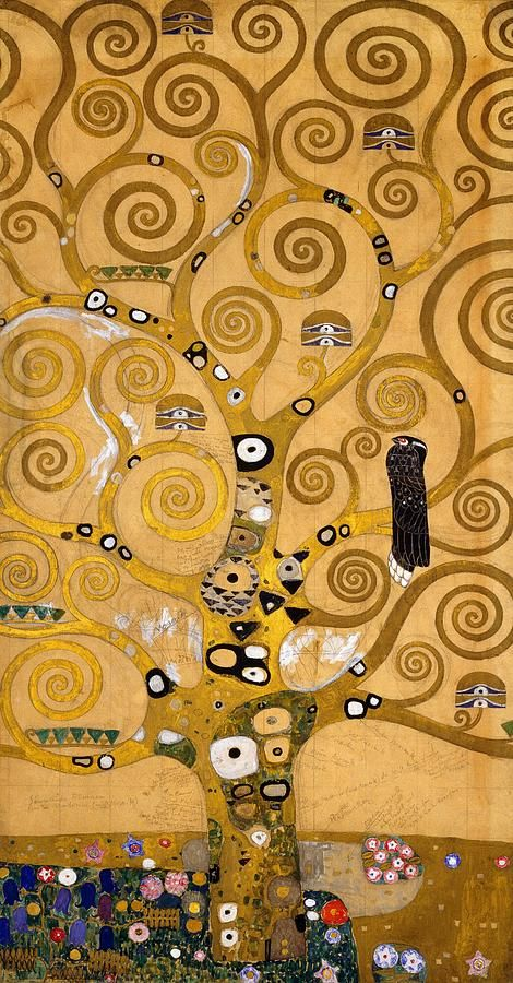 "ストックレー・フリーズ-生命の樹(原図)(Stoclefries - Der Lebensbaim)""Tree Of Life"" by Gustav Klimt"