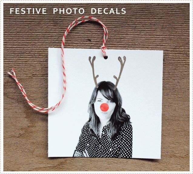 Hehe, love it.  Personalised gift tags with festive photo decals.