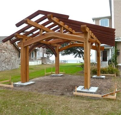 79 best images about pavilions and pergolas on pinterest for Outdoor kitchen pavilion designs