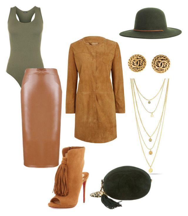 """""""Autumn Per-suede-sion"""" by klasikmimi on Polyvore featuring WearAll, WithChic, Brixton, Weekend Max Mara, Christian Louboutin and Chanel"""