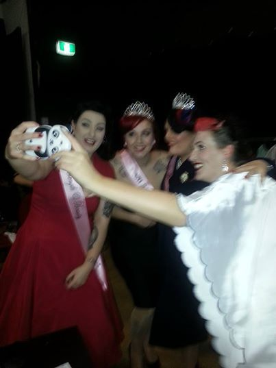 After the final with l-r.Miss Von Holmes,Miss Peggy Jean,Miss Rosie Boudier-Miss Neo WA 2014 and Miss Annie Key www.misspinupaustralia.com.au