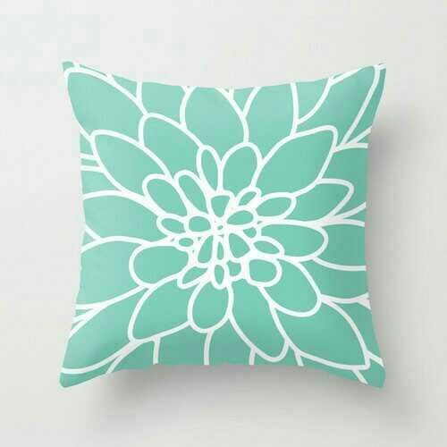 Mint green pillow
