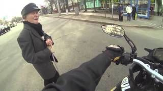Great Acts of Kindness - Motorcycle Escorts Blind Man Across Highway.