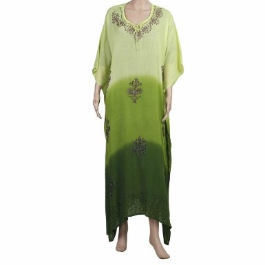 Amazon.com: Caftans For Plus Size Women Patterned Embroidered Tunic Rayon Dresses from India: Clothing