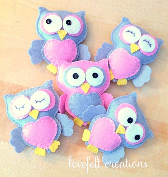 Baby mobile Owl mobile Baby Girl Mobile Nursery by LoveFeltXoXo