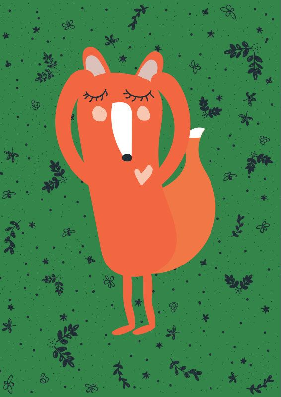 ARTIST INSPIRATION Fox - something for kids  MATERIAL DESCRIPTION * 170g paper * rolled and mailed in a sturdy tube mailer * print comes with
