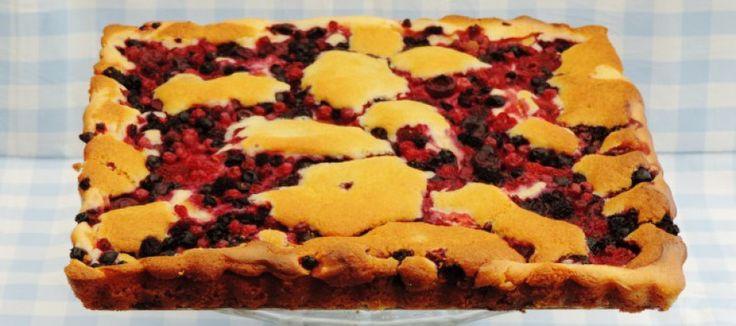 Bosvruchten roomkaas plaatcake | Lekker Tafelen