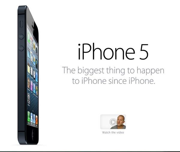 www.apple.com - 12 de Septiembre de 2012. Lanzamiento del iPhone 5.