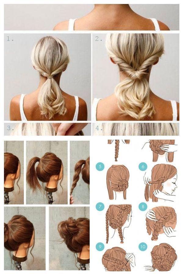 Einfache Frisuren Mittellanges Haar Einfachefrisuren Easyhairstylesshoulderlength Shoulder Length Hair Haar Tutorial