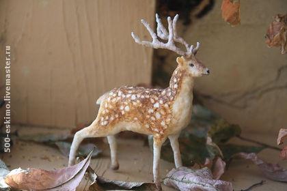 Ватная игрушка Лесной олень.
