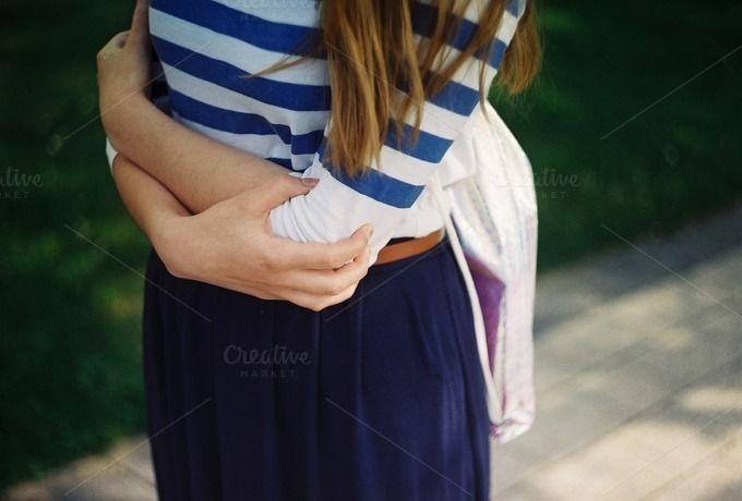 Girl in a summer skirt by Kasia Górska on @creativemarket