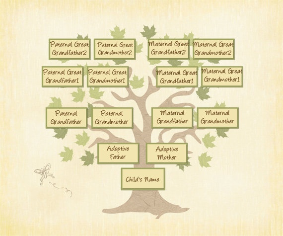 layout for family tree