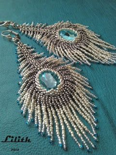 Lilith Pearl Jewelry Peacock Feather Pattern