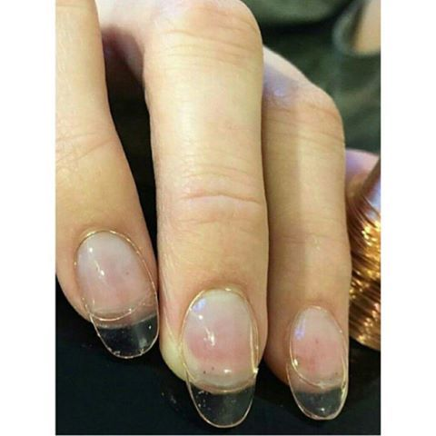Clear nails.
