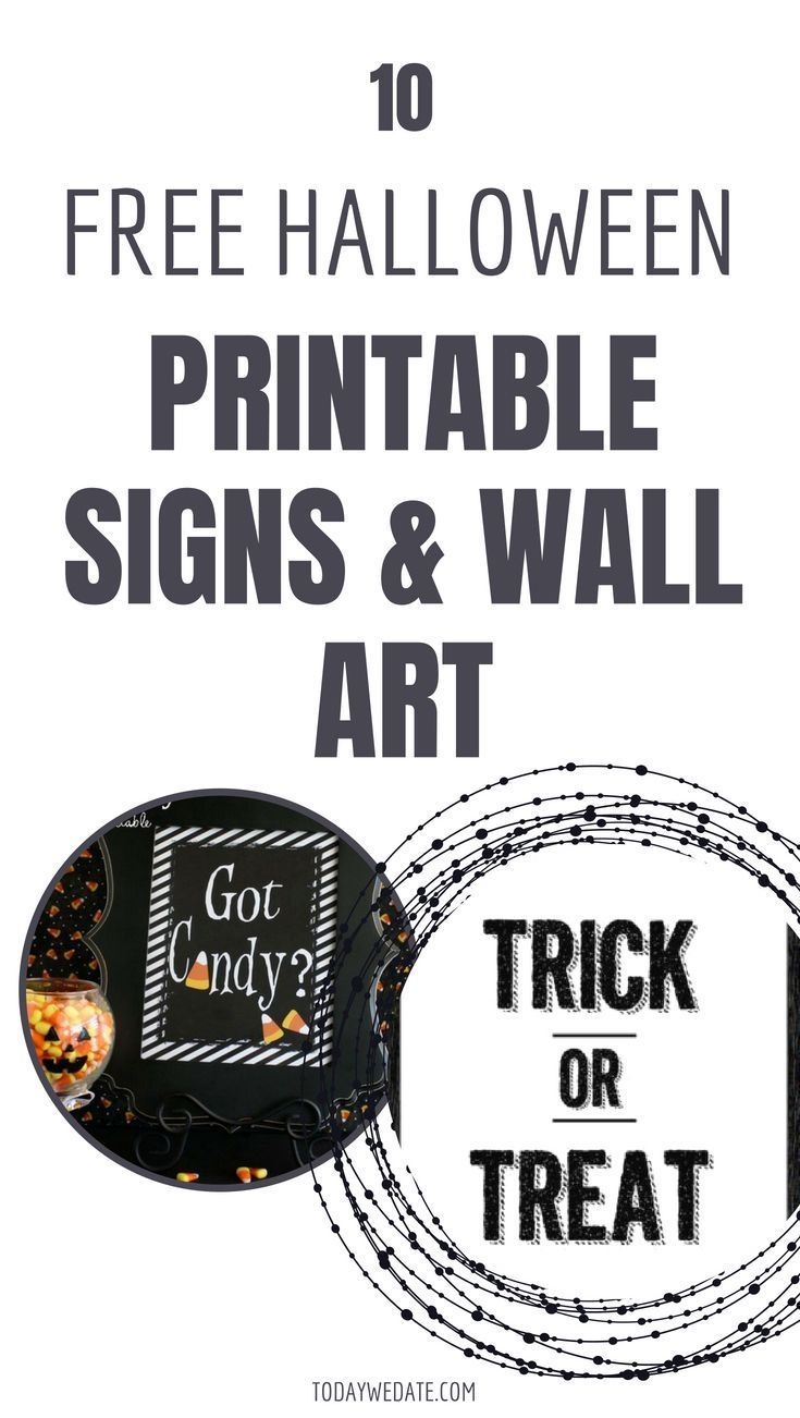 image about Halloween Signs Printable known as 63 Absolutely free Halloween Printables That Are Merely Remarkable