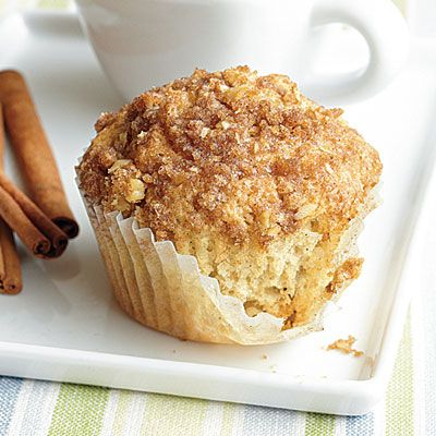 Cinnamon-Raisin Muffins with Streusel Topping - Healthy Breakfast Recipes - Cooking Light