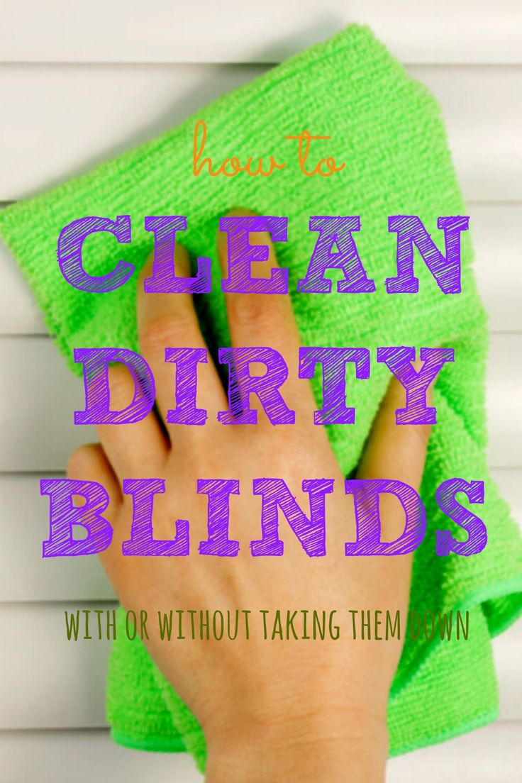 Did you know clean blinds can drastically reduce the amount of dust in your home? This short guide will show you how to clean yours with or without taking them down and how to keep them from getting grimy again. via @HousewifeHowTos