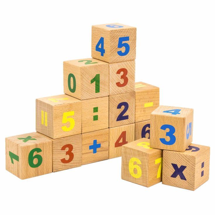 Кубики Цифры 15 штук