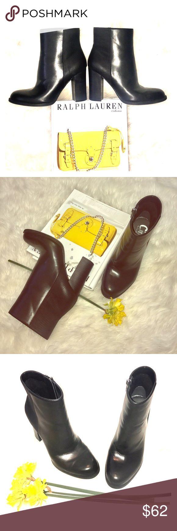 "🍒 Sam Edelman heels Great condition WORN few times man made black bootie size-8.5 heel-4"". Circus by Sam Edelman Circus by Sam Edelman Shoes Ankle Boots & Booties"