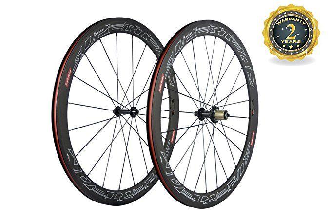 Superteam 50mm Clincher Wheelset 700c 23mm Width Cycling Racing