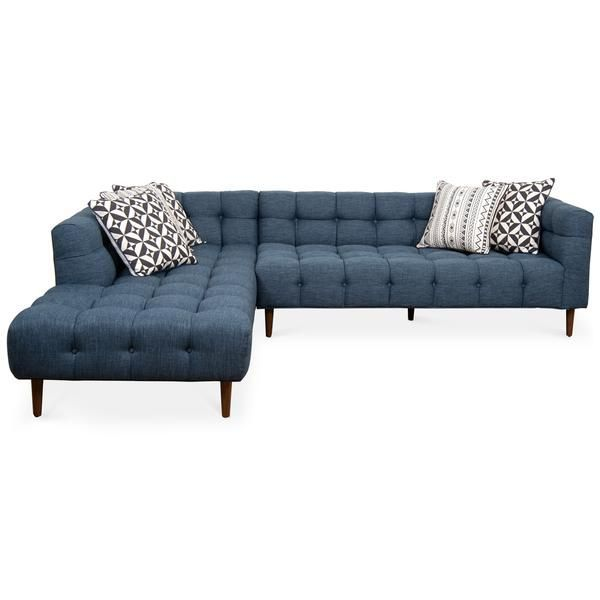 Delano Sectional In Key Largo Denim Modern Sectional Sectional Contemporary Sofa